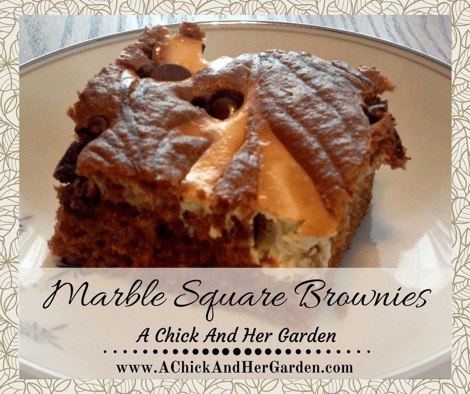 Marble Square Brownies
