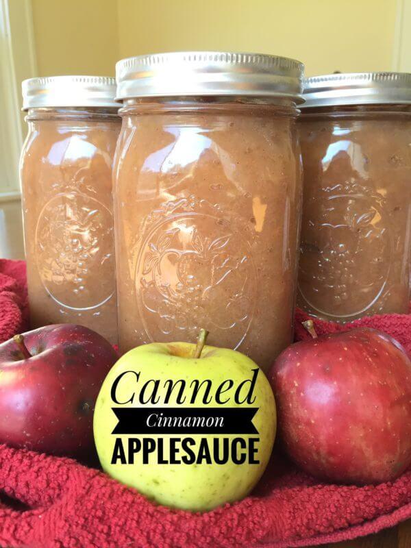 Canned Cinnamon Applesauce
