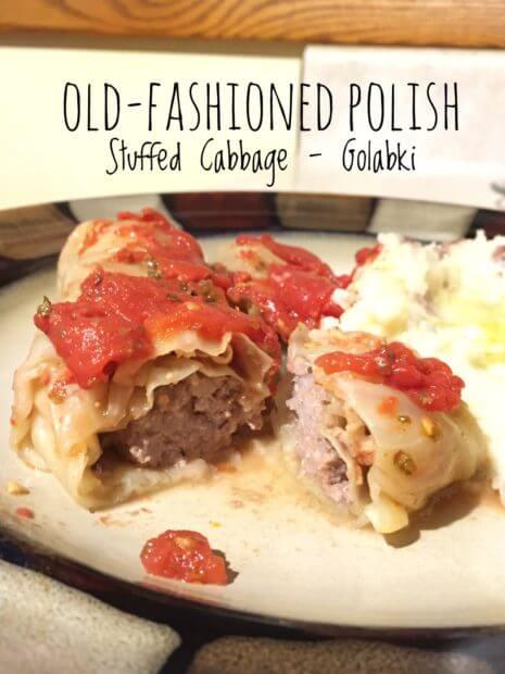 Old-Fashioned Polish Stuffed Cabbage - Golabki