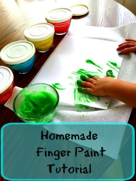 Homemade Finger Paint Tutorial