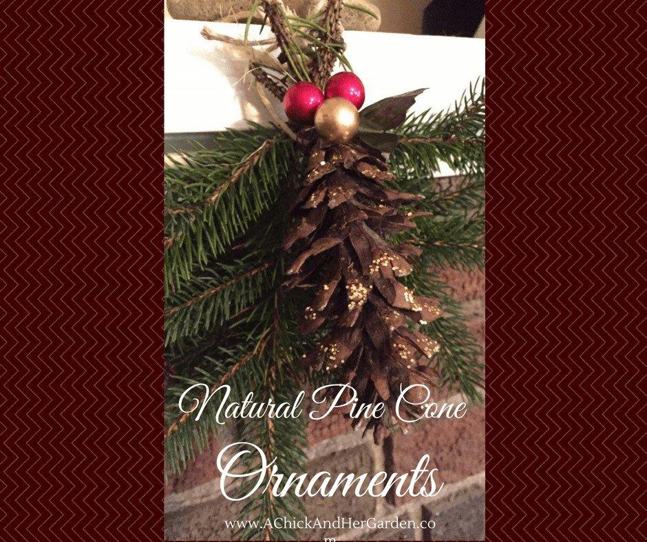 Natural Pine Cone Ornaments