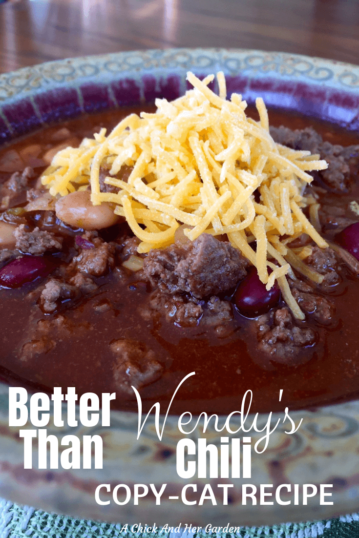 "This Chili recipe is amazing! We've given up on all other chili recipes now and this one is known as ""THE Chili Recipe"" in our family! #chili #onepotrecipes #chilirecipe #fromscratchcooking #achickandhergarden"