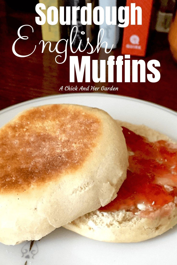 Who doesn't love a good English Muffin for breakfast??? These were super easy and so good! I'll never buy from the store again! #sourdoughrecipes #englishmuffins #fromscratchcooking #achickandhergarden