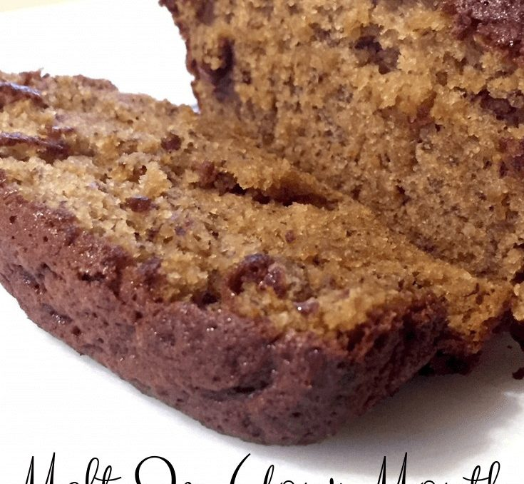 This banana bread recipe turned out perfect! It's so good you don't even need butter! (But what's banana bread without butter??) #bananbread #breadrecipes #fromscratchrecipes #achickandhergarden