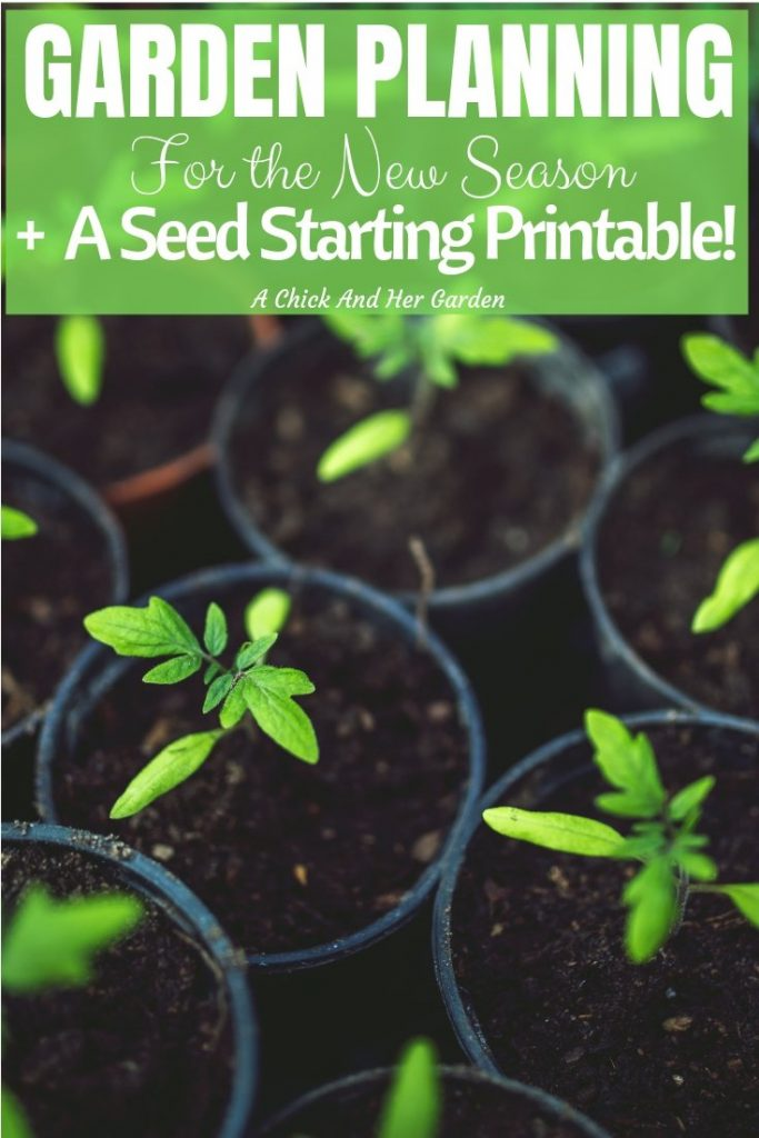 I love starting with a clean slate in the garden every Spring! This post, and printable made it so easy to planout the garden this season! #gardenplanning  #gardening #springgarden #seedstarting #gardeningforbeginners #achickandhergarden