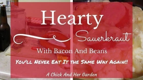 Hearty Sauerkraut with Bacon and Beans