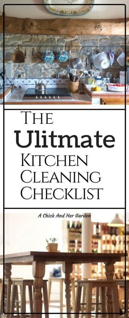 Keeping a kitchen fully cleaned can be such a pain! I always forgot something.  This new checklist with daily, weekly and monthly to-do's keeps me on track!