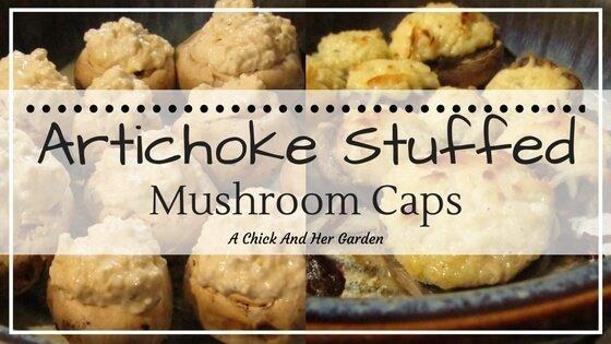 Artichoke Stuffed Mushroom Caps
