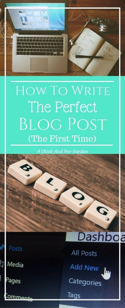 Learn how to write the perfect blog post! (Without having to keep going back to fix it!)