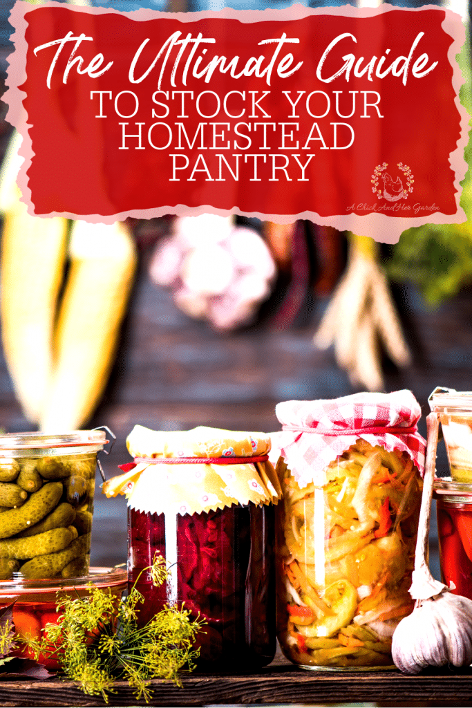 This was a great breakdown of customzing a pantry to your families needs! It's also full of recipes to add to your own pantry! #foodpreservation #stockedpantry #canning #homecanned #homecanning #homesteadrecipes #fromscratchrecipes #achickandhergarden