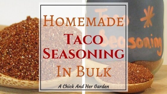 Homemade Taco Seasoning In Bulk