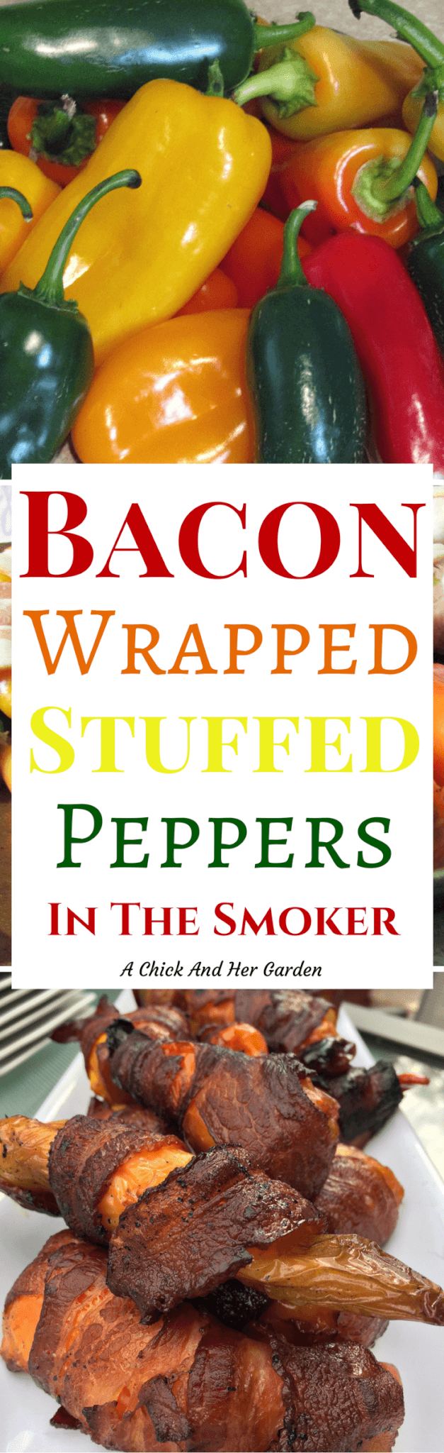 Looking for a great party snack in the smoker?? Try this recipe for stuffed peppers! The fact that they're wrapped in bacon is an added bonus!