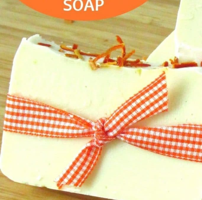 This cold process soap recipe was the perfect fall and winter soap! I love the citrus with hints of cedar! It was so moisturizing too! #coldprocesssoap #orangesoap #homemadesoap #naturalhealthandwellness #naturalsoapmaking #achickandhergarden