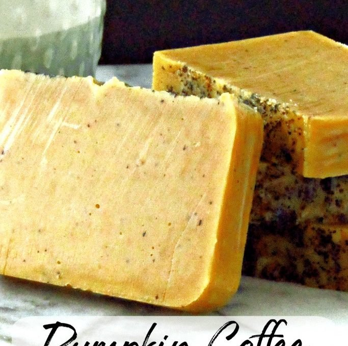 This pumpkin coffee soap turned out amazing! The scent is perfect for fall, but if you're one of those pumpkin spice addicts, there's no shame in making enough to last all year! #pumpkinspice #pumpkincoffee #pumpkinsoap #fallcoldprocesssoap #achickandhergarden