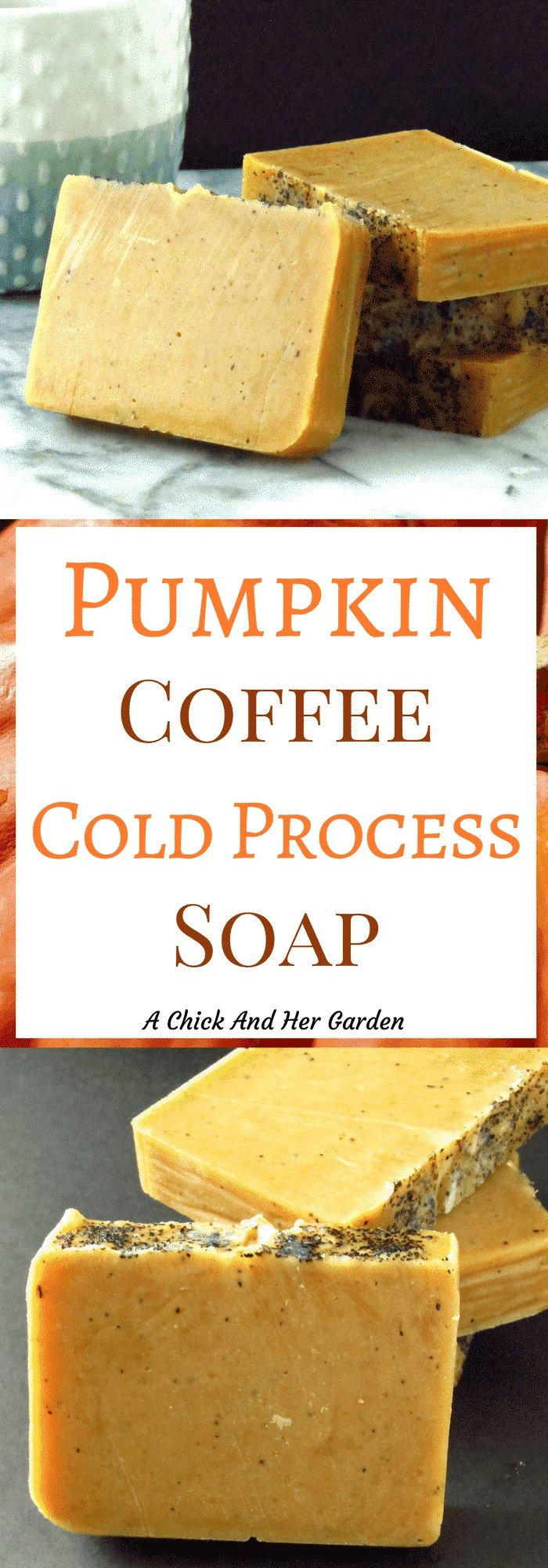 Pumpkin coffee soap has two of my favorite things! Pumpkin and coffee! While it's a great scent for the Fall, this soap has plenty of benefits for use year round!