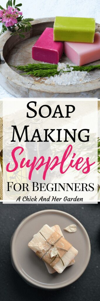 Making soap isn't as expensive as I thought it would be! These are the essentials to get started making your own cold process soap! #coldprocess #soapmaking #makeyourownsoap #achickandhergarden