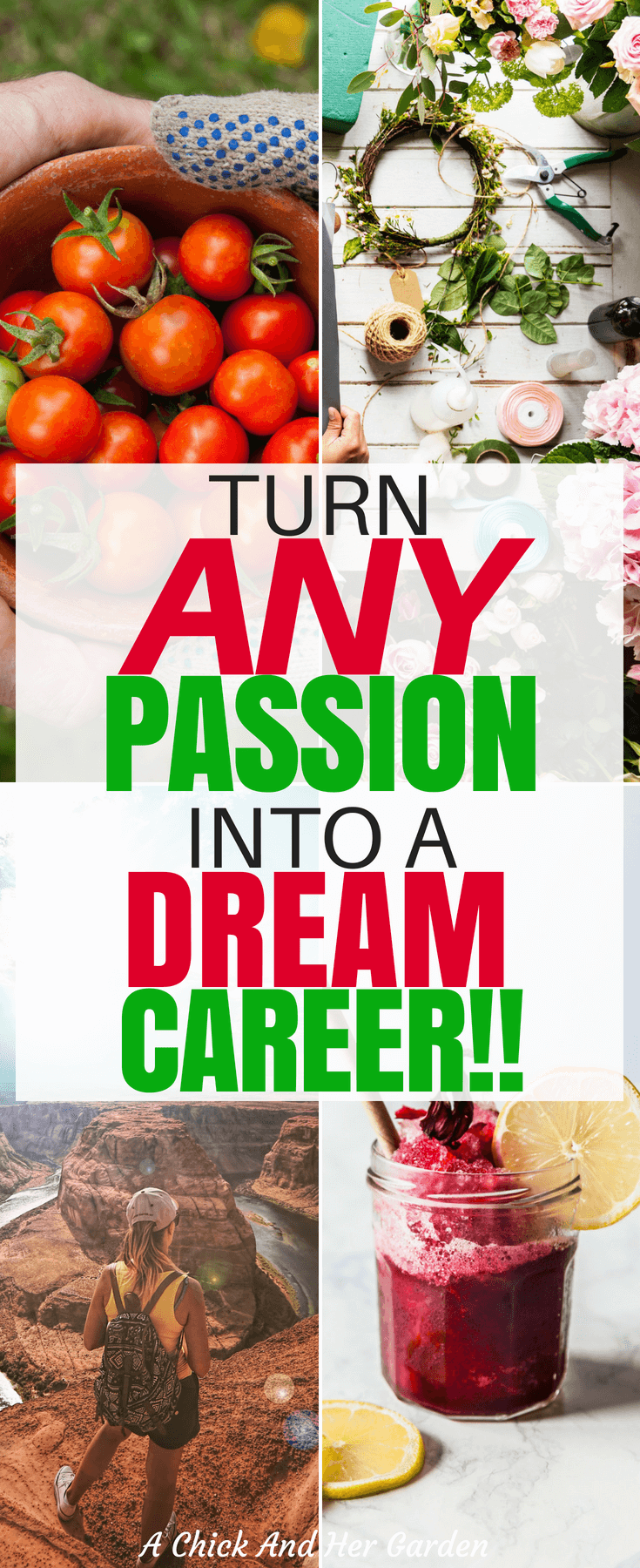 It is possible to turn you passion into a career! Any passion! Check out how she turned 10 chickens into a dream job! #lovewhatyoudo #makemoneyfromhome #makemoneyblogging #makemoneyonline #achickandhergarden