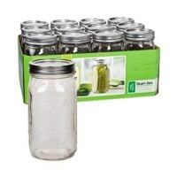 Ball Wide Mouth Quart (32 oz) Jars with Lids and Bands, Set of 12