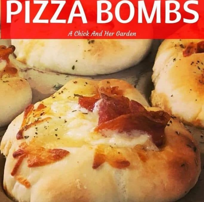 If you love pizza, you have to try these sourdough pizza bombs! They were such a hit over the holidays, they were gone before everyone showed up to the party! #appetizers #pizzasnacks #sourdoughrecipes #achickandhergarden