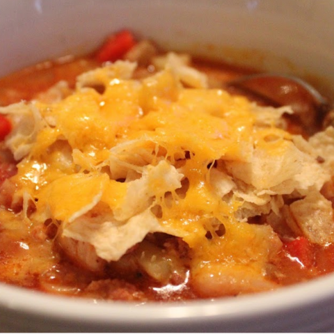 Chicken Chorizo Tortilla Stoup