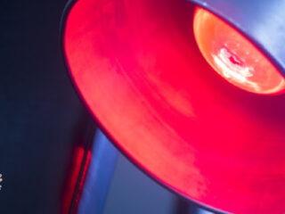 close up of a heat lamp